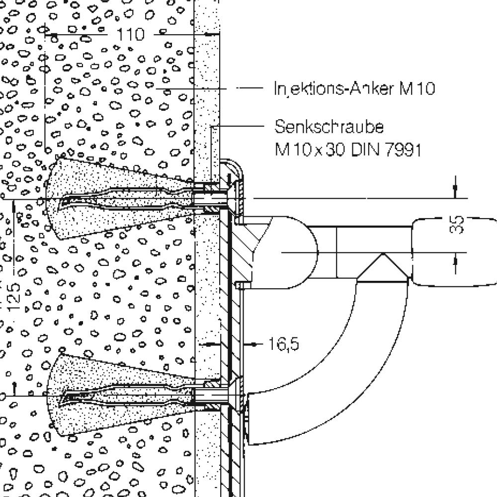 befestigung f r klappsitze w nden aus vollstein aus leichtbeton v 2 gasbeton g 2 bimsstein. Black Bedroom Furniture Sets. Home Design Ideas