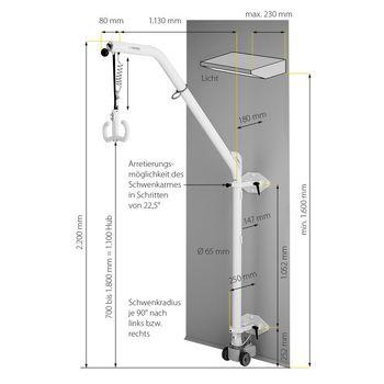 Curator wall lifting device